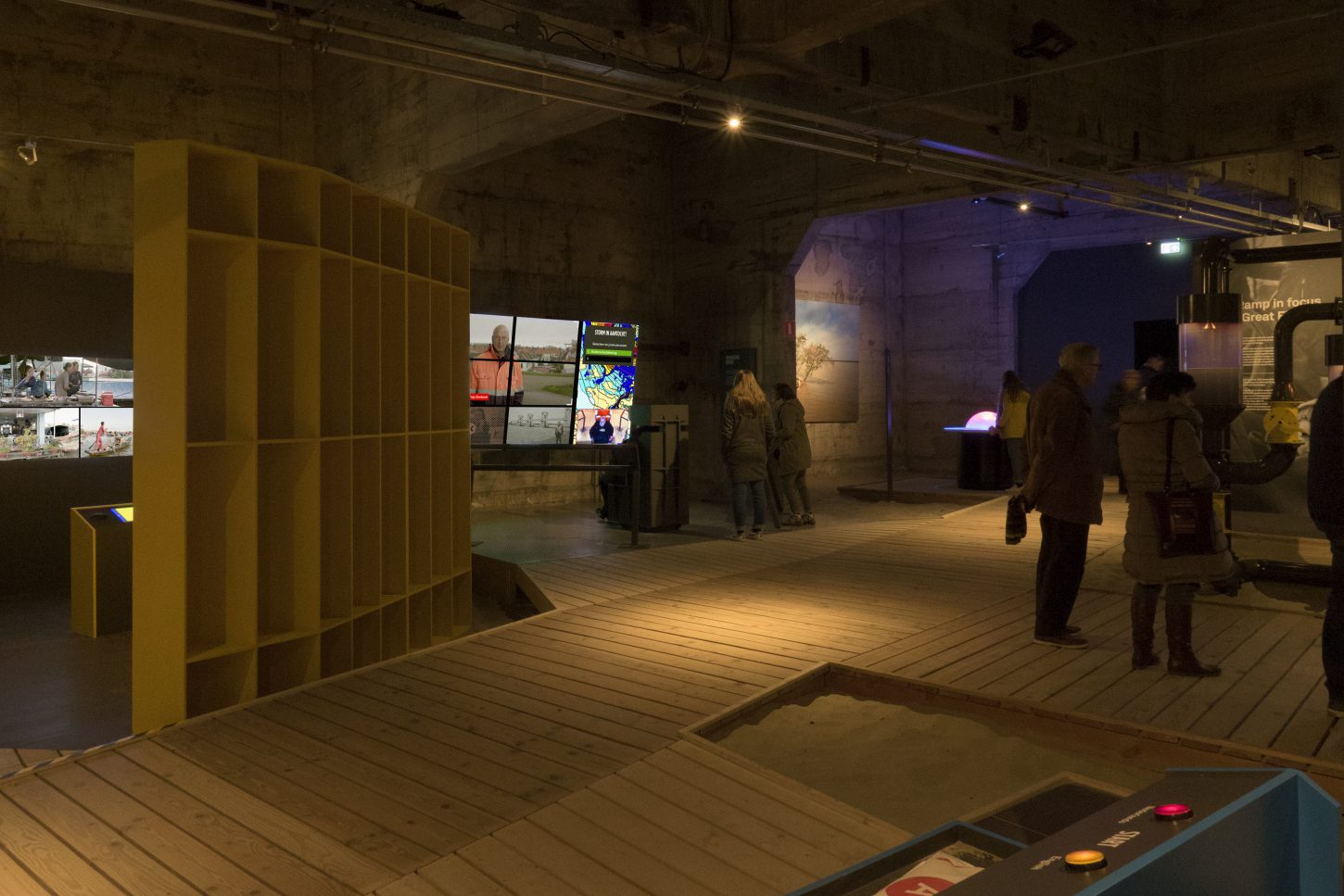 "Overview of the interactive exhibition ""The Water will Come"" at Watersnoodmuseum, The Netherlands"