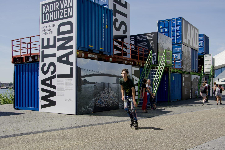 Installation overview of the outdoor exhibition Wasteland, Kadir van Lohuizen